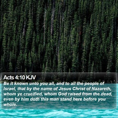 Acts 4:10 KJV Bible Verse Image