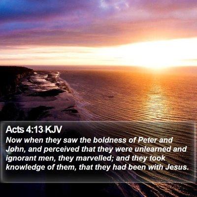 Acts 4:13 KJV Bible Verse Image