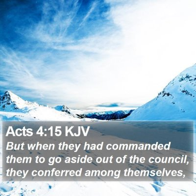 Acts 4:15 KJV Bible Verse Image