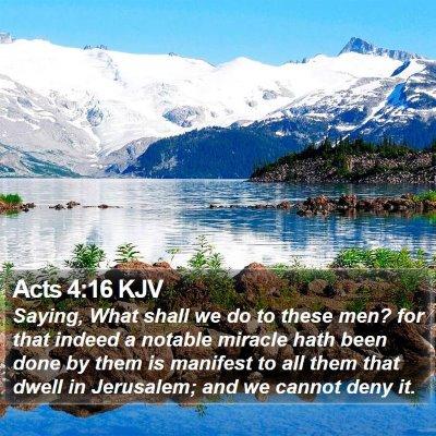 Acts 4:16 KJV Bible Verse Image