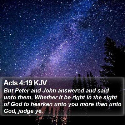 Acts 4:19 KJV Bible Verse Image