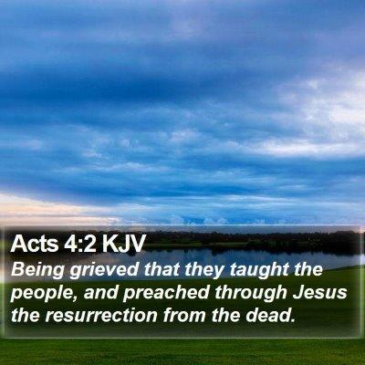 Acts 4:2 KJV Bible Verse Image