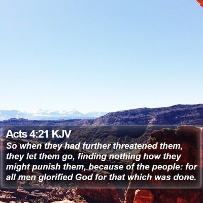 Acts 4:21 KJV Bible Verse Image