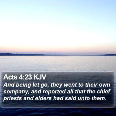 Acts 4:23 KJV Bible Verse Image