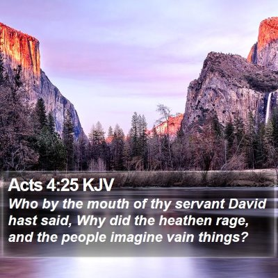 Acts 4:25 KJV Bible Verse Image