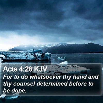Acts 4:28 KJV Bible Verse Image