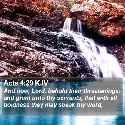 Acts 4:29 KJV Bible Verse Image