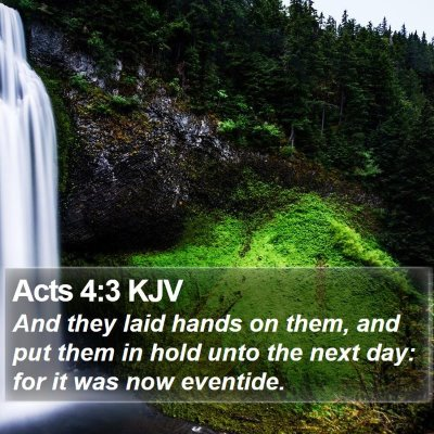 Acts 4:3 KJV Bible Verse Image