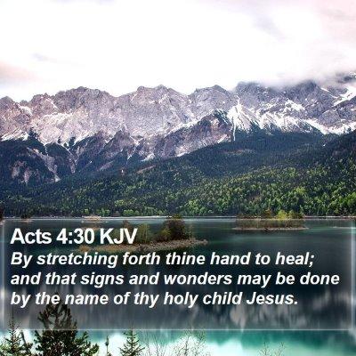 Acts 4:30 KJV Bible Verse Image