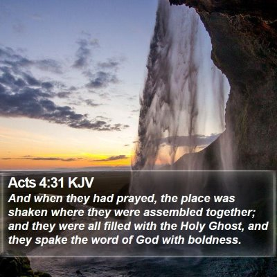 Acts 4:31 KJV Bible Verse Image