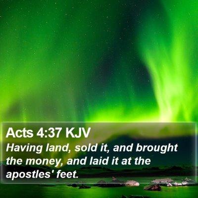Acts 4:37 KJV Bible Verse Image