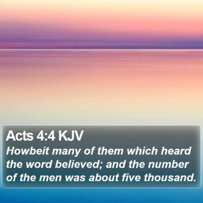 Acts 4:4 KJV Bible Verse Image