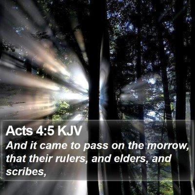 Acts 4:5 KJV Bible Verse Image
