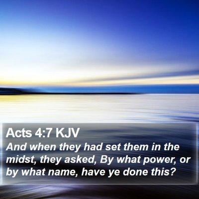 Acts 4:7 KJV Bible Verse Image