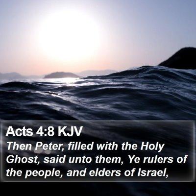 Acts 4:8 KJV Bible Verse Image