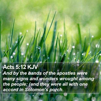 Acts 5:12 KJV Bible Verse Image