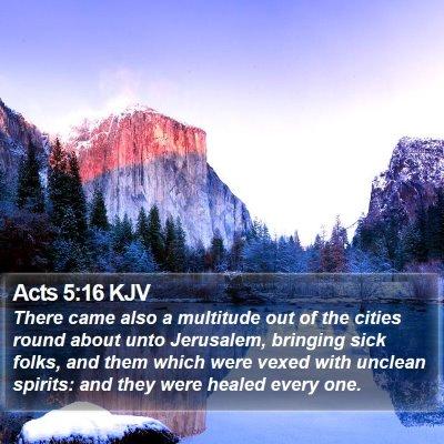 Acts 5:16 KJV Bible Verse Image