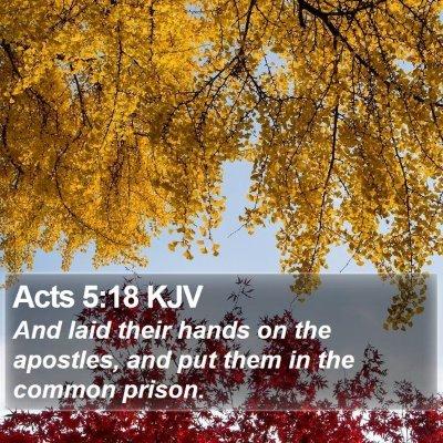 Acts 5:18 KJV Bible Verse Image