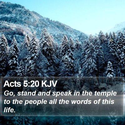 Acts 5:20 KJV Bible Verse Image