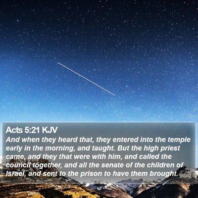 Acts 5:21 KJV Bible Verse Image