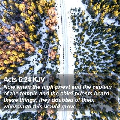 Acts 5:24 KJV Bible Verse Image