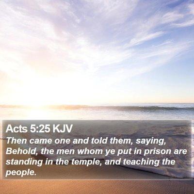 Acts 5:25 KJV Bible Verse Image
