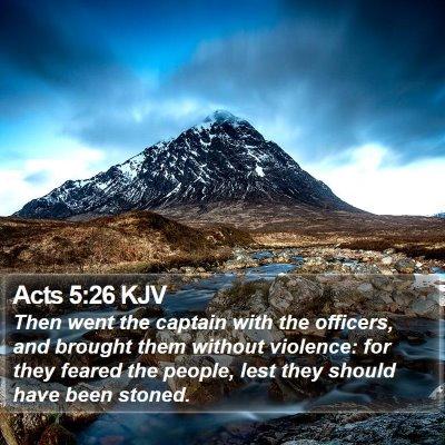 Acts 5:26 KJV Bible Verse Image