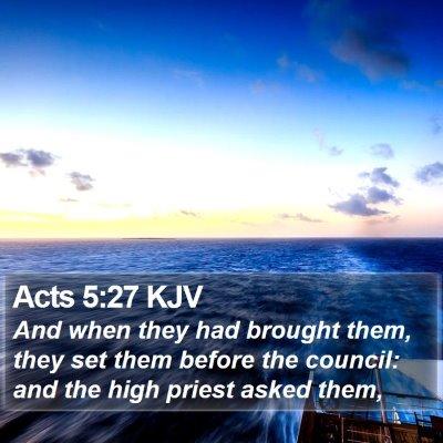 Acts 5:27 KJV Bible Verse Image