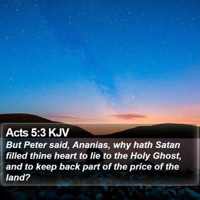 Acts 5:3 KJV Bible Verse Image