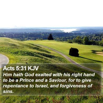 Acts 5:31 KJV Bible Verse Image