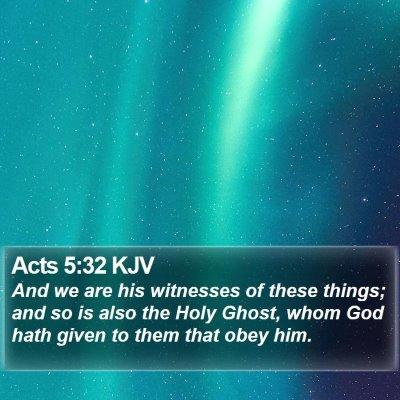 Acts 5:32 KJV Bible Verse Image