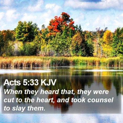 Acts 5:33 KJV Bible Verse Image
