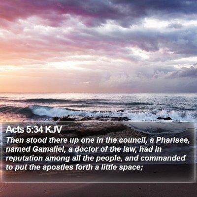 Acts 5:34 KJV Bible Verse Image