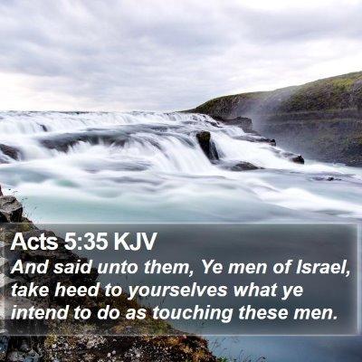 Acts 5:35 KJV Bible Verse Image