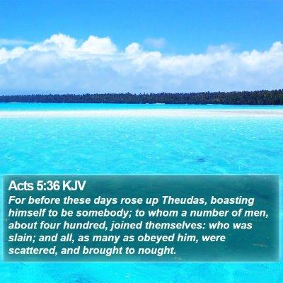 Acts 5:36 KJV Bible Verse Image