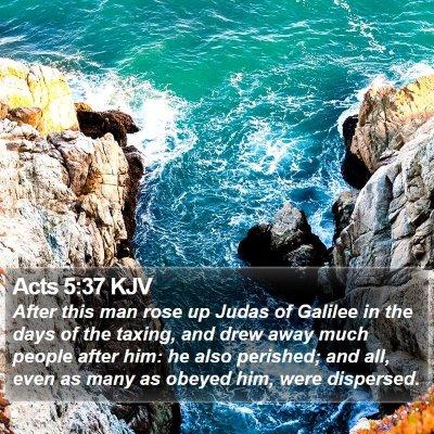 Acts 5:37 KJV Bible Verse Image