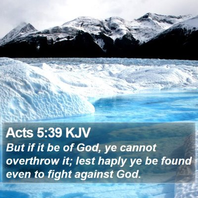 Acts 5:39 KJV Bible Verse Image