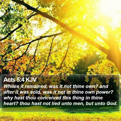 Acts 5:4 KJV Bible Verse Image