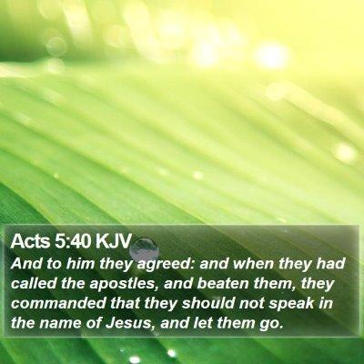 Acts 5:40 KJV Bible Verse Image