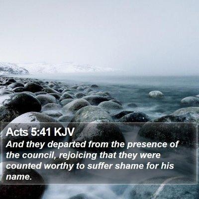 Acts 5:41 KJV Bible Verse Image