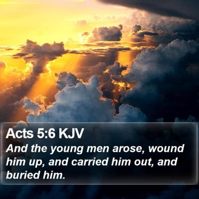 Acts 5:6 KJV Bible Verse Image
