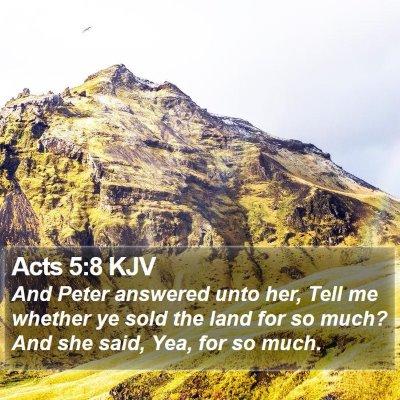 Acts 5:8 KJV Bible Verse Image