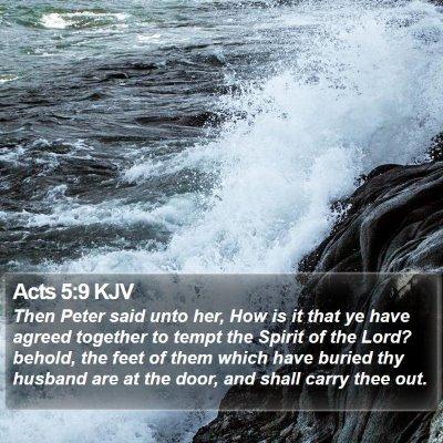 Acts 5:9 KJV Bible Verse Image