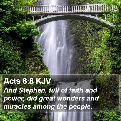 Acts 6:8 KJV Bible Verse Image