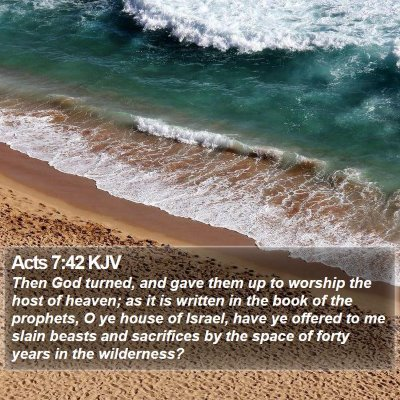 Acts 7:42 KJV Bible Verse Image