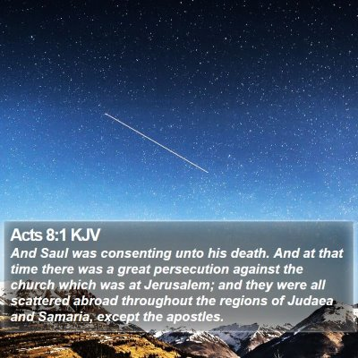 Acts 8:1 KJV Bible Verse Image