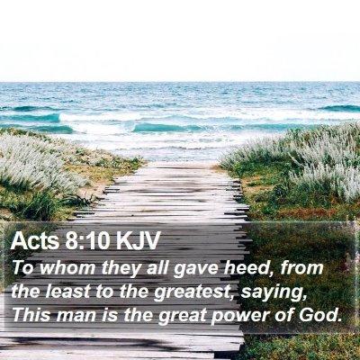 Acts 8:10 KJV Bible Verse Image