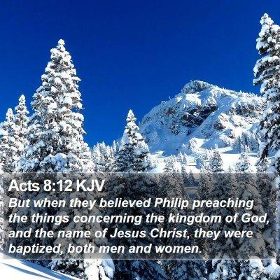 Acts 8:12 KJV Bible Verse Image