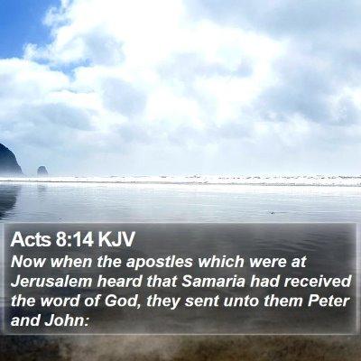 Acts 8:14 KJV Bible Verse Image
