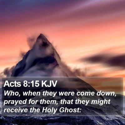 Acts 8:15 KJV Bible Verse Image